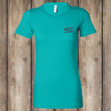 FRONT I Make My Own Luck Women's Tee, Turquoise, WM-APO-500
