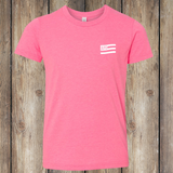 Tack Crossing Front - Neon Pink, Youth T-shirt YT-APO-300