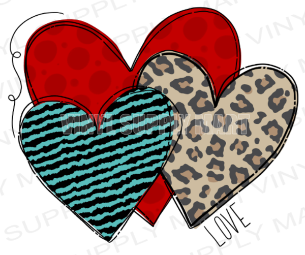 *Heart Trio - SUBLIMATION TRANSFER