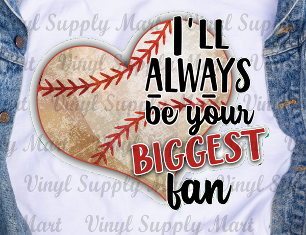*Biggest Fan - Baseball Heart Transfer
