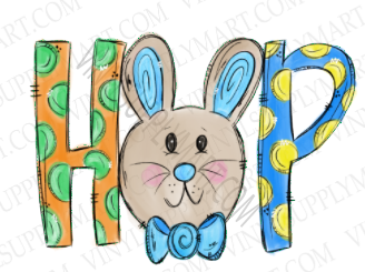 *Bunny Boy Hop - SUBLIMATION TRANSFER
