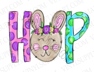 *Bunny Girl Hop - SUBLIMATION TRANSFER