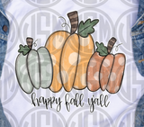 *Dot Pumpkins - Happy Fall Y'all - Transfer