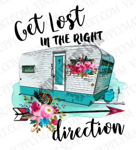 Get Lost, Camper, traveler, sublimation transfer