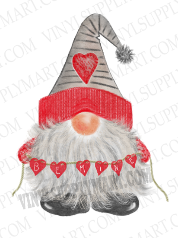 *Gnome Be Mine - SUBLIMATION TRANSFER