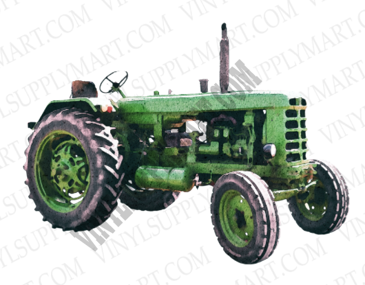 tractor, green tractor, sublimation transfer