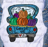 *Happy Fall Y'all Blue Truck Transfer