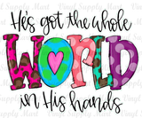 *He's got the whole world in his hands - HTV Transfer
