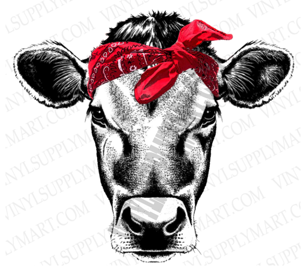 *Heifer - Red Bandanna - SUBLIMATION TRANSFER