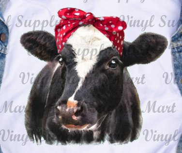 *Heifer Red Bandanna - HTV Transfer