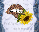 *Lips and Sunflower Transfer