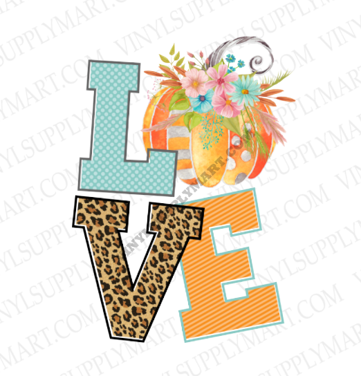 *Love - Pumpkin - SUBLIMATION TRANSFER