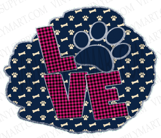 *Love Paw Print - SUBLIMATION TRANSFER