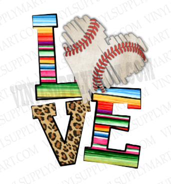 *LOVE - Baseball - SUBLIMATION TRANSFER