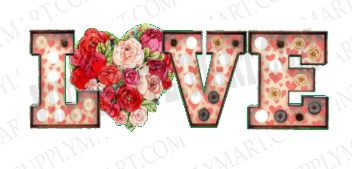 *Love Floral Heart - SUBLIMATION TRANSFER