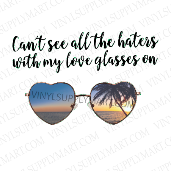 *Love Glasses - Transfer