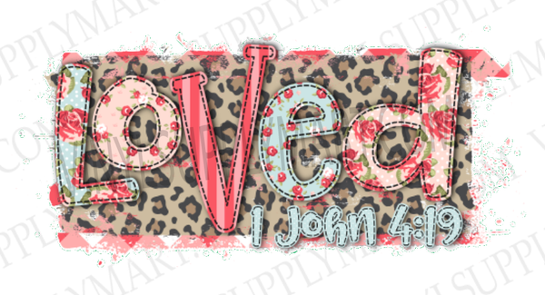 *LOVED - Leopard - SUBLIMATION TRANSFER