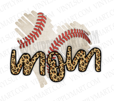 *Mom - Baseball Heart - SUBLIMATION TRANSFER