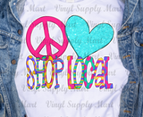 *Peace Love Shop Local Transfer
