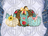 *Pumpkin Trio - Leopard and Floral - Transfer
