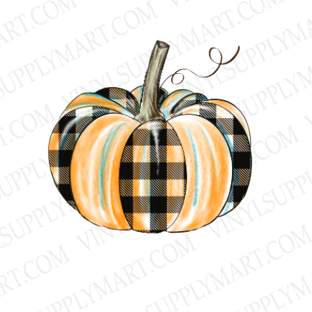 *Pumpkin- Buffalo Plaid  - SUBLIMATION TRANSFER