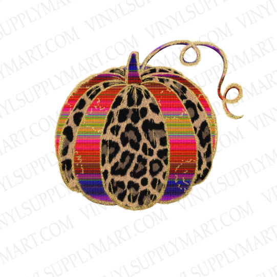 *Pumpkin - Leopard and Serape - HTV Transfer