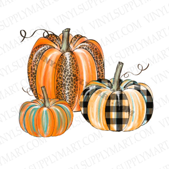 pumpkin set transfer, sublimation transfer, fall pumpkin