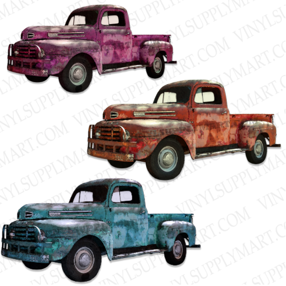 *Vintage Truck - SUBLIMATION TRANSFER