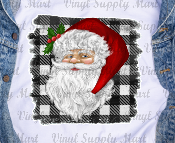 *Santa Plaid Transfer