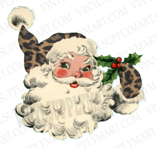 *Santa - Vintage Leopard - SUBLIMATION TRANSFER