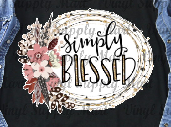 *Simply Blessed - HTV Transfer