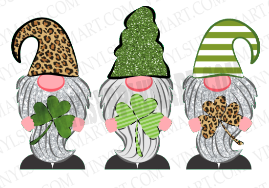 *St. Patty Day Gnome Trio - Sublimation Transfer