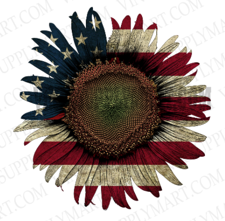*Sunflower - Rustic Flag - SUBLIMATION TRANSFER