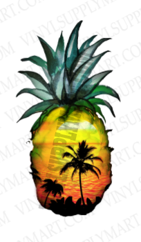 *Sunset Pineapple - SUBLIMATION TRANSFER