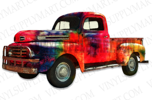 *Tie Dye Truck - SUBLIMATION TRANSFER