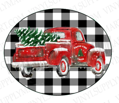 *Truck - Christmas Tree - SUBLIMATION TRANSFER