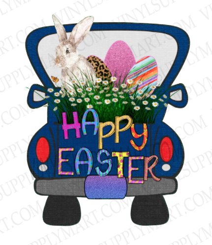 *Truck / Happy Easter - HTV Transfer
