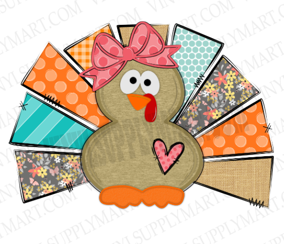 *Turkey - Girl - SUBLIMATION TRANSFER