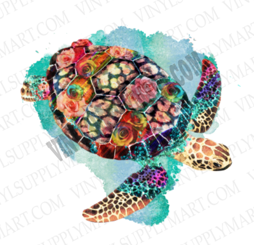 *Turtle - Watercolor - SUBLIMATION TRANSFER