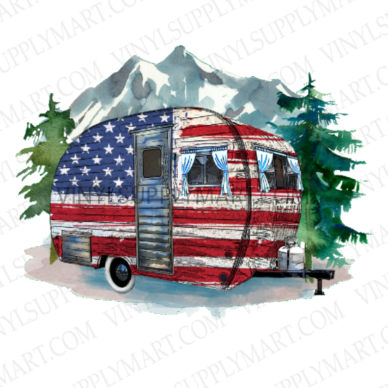 *USA Camper Trailer - SUBLIMATION TRANSFER