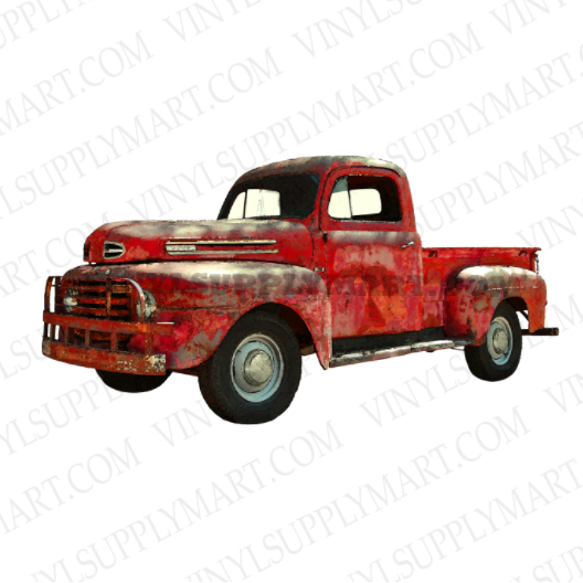 *Vintage Red Truck - HTV Transfer