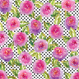 *Pink Floral - Watercolor Patterns