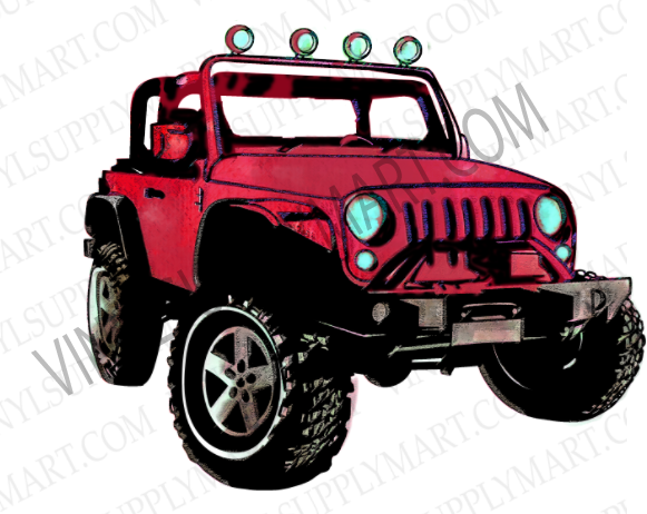 Jeep, sublimation transfer