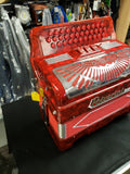 Polverini 3412 LATINO 2 ROJO ESTILO ITALIANO 3 Switch Accordion Fa Red