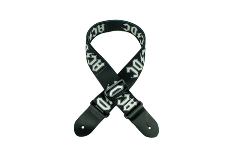 AC/DC GS-P1034 GUITAR POLYESTER STRAP OFFICIAL LICENSE