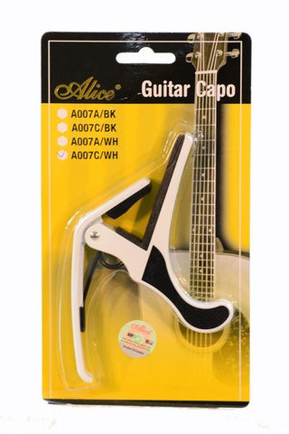 ALICE GC-AOO7C-WH ADVANCED ALLOY ACOUSTIC GUITAR CAPO