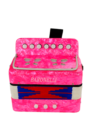 BARONELLI AC0702-HPK WOODEN KIDS MINI ACCORDION