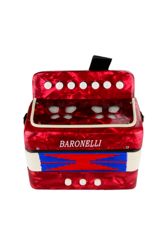 BARONELLI AC0702-RD WOODEN KIDS MINI ACCORDION