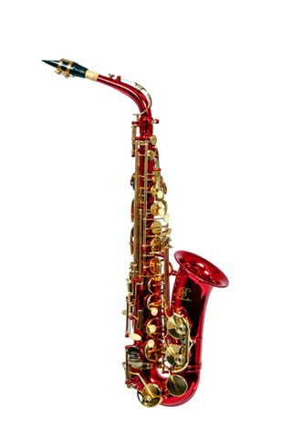 B - U.S.A. WAS-RD ALTO SAXOPHONE RED