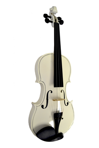 COLORED 4/4 VIOLIN ENSEMBLE WHITE VI4412R-WH